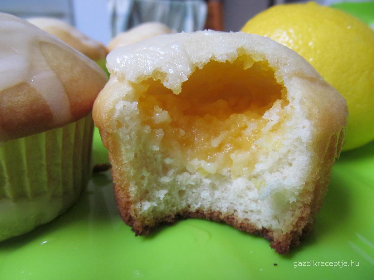 Citromkrémes muffin belülről