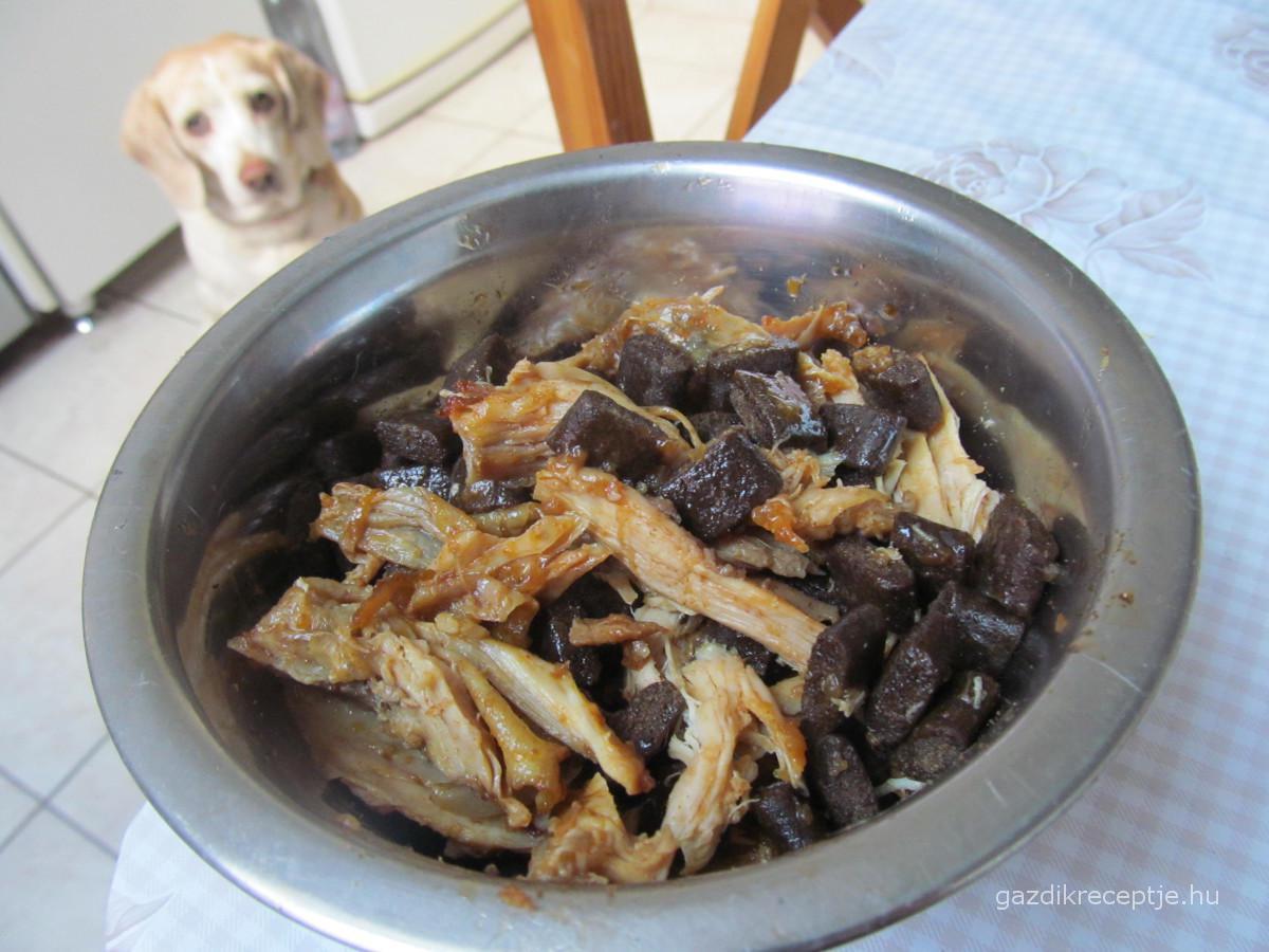 Csirkepaprikás a kutyának