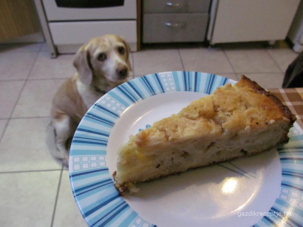 Almás pite szelet
