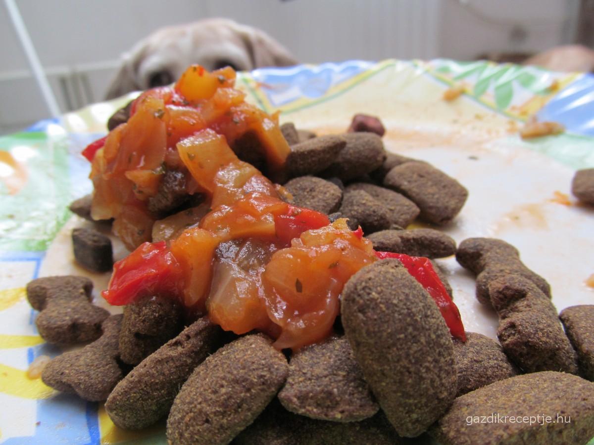 Lecsóscsirke kutyatáppal
